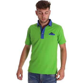 Ruhák Férfi Rövid ujjú galléros pólók Bradano 000114 Zöld