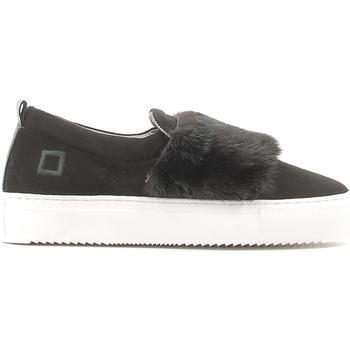 Cipők Női Belebújós cipők Date A251-SL-FU-BK Fekete