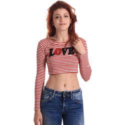 Ruhák Női Hosszú ujjú pólók Fornarina BE175L14JG0976 Piros
