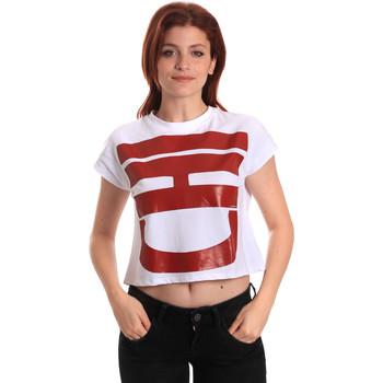 Ruhák Női Rövid ujjú pólók Fornarina BE175L31JG0709 Fehér