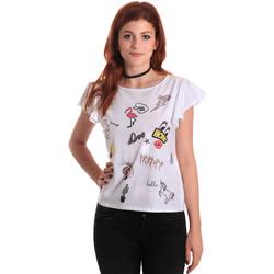 Ruhák Női Rövid ujjú pólók Fornarina BE175L40JG0709 Fehér