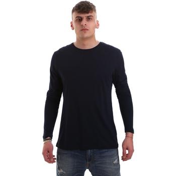 Ruhák Férfi Hosszú ujjú pólók Antony Morato MMKL00264 FA100066 Kék