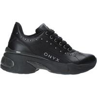 Cipők Női Rövid szárú edzőcipők Onyx W19-SOX513 Fekete