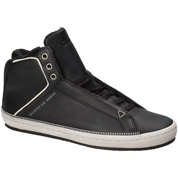 Cipők Férfi Magas szárú edzőcipők Guess FMMID4 LEA12 Fekete