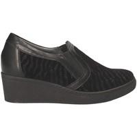 Cipők Női Mokkaszínek Grunland SC3525 Fekete