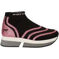 Cipők Női Magas szárú edzőcipők Fornarina PI18SL1077J066 Fekete