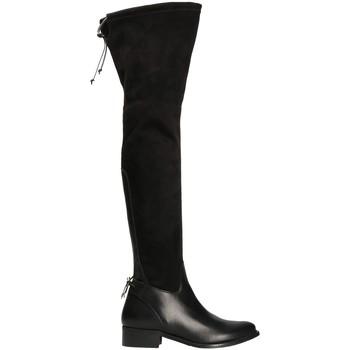 Cipők Női Combcsizmák Mally 6077-1 Fekete