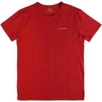 Ruhák Férfi Rövid ujjú pólók Key Up 2G69S 0001 Piros