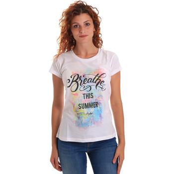 Ruhák Női Rövid ujjú pólók Key Up 5D59S 0001 Fehér
