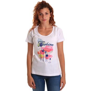 Ruhák Női Rövid ujjú pólók Key Up 5D58S 0001 Fehér