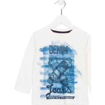 Ruhák Gyerek Hosszú ujjú pólók Losan 725 1000AC Fehér