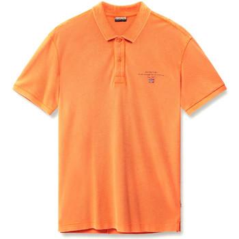 Ruhák Férfi Rövid ujjú galléros pólók Napapijri N0YIJ5 Narancssárga