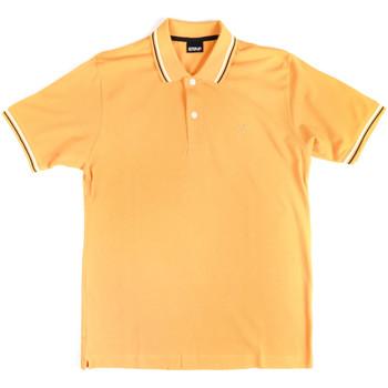 Ruhák Férfi Rövid ujjú galléros pólók Key Up 2Q70G 0001 Sárga