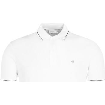 Ruhák Férfi Rövid ujjú galléros pólók Calvin Klein Jeans K10K104918 Fehér