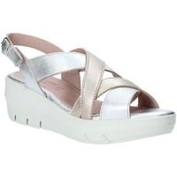 Cipők Női Szandálok / Saruk Grunland SA1876 Ezüst