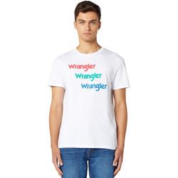 Ruhák Férfi Rövid ujjú pólók Wrangler W7D7D3989 Fehér