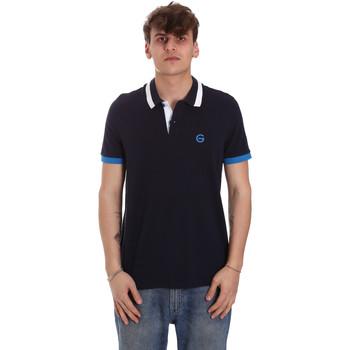 Ruhák Férfi Rövid ujjú galléros pólók Gaudi 011BU64043 Kék