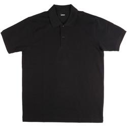 Ruhák Férfi Rövid ujjú galléros pólók Key Up 2800Q 0001 Fekete