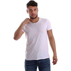 Ruhák Férfi Rövid ujjú pólók Key Up 233SG 0001 Fehér