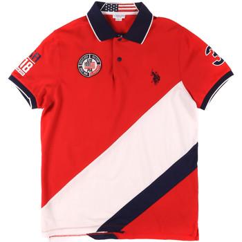 Ruhák Férfi Rövid ujjú galléros pólók U.S Polo Assn. 43771 41029 Piros