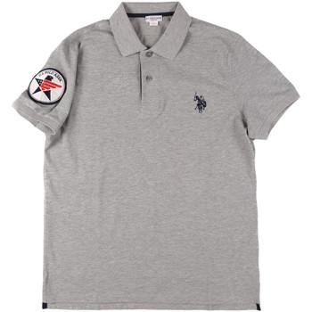 Ruhák Férfi Rövid ujjú galléros pólók U.S Polo Assn. 43767 41029 Szürke