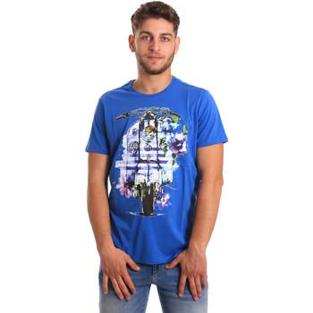 Ruhák Férfi Rövid ujjú pólók Gaudi 811BU64154 Kék