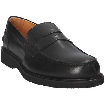 Cipők Férfi Mokkaszínek Exton 9102 Fekete