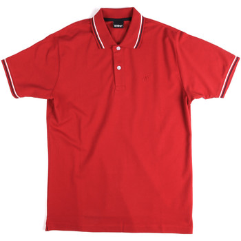 Ruhák Férfi Rövid ujjú galléros pólók Key Up 2Q70G 0001 Piros