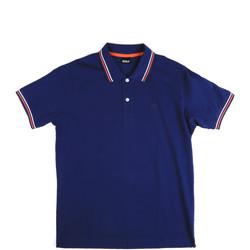 Ruhák Férfi Rövid ujjú galléros pólók Key Up 2Q70G 0001 Kék