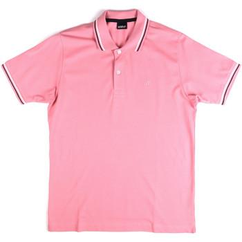 Ruhák Férfi Rövid ujjú galléros pólók Key Up 2Q70G 0001 Rózsaszín
