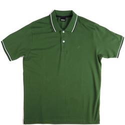Ruhák Férfi Rövid ujjú galléros pólók Key Up 2Q70G 0001 Zöld