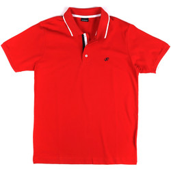 Ruhák Férfi Rövid ujjú galléros pólók Key Up 2Q711 0001 Piros