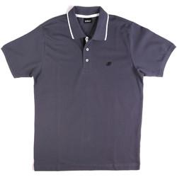 Ruhák Férfi Rövid ujjú galléros pólók Key Up 2Q711 0001 Kék