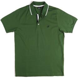 Ruhák Férfi Rövid ujjú galléros pólók Key Up 2Q711 0001 Zöld