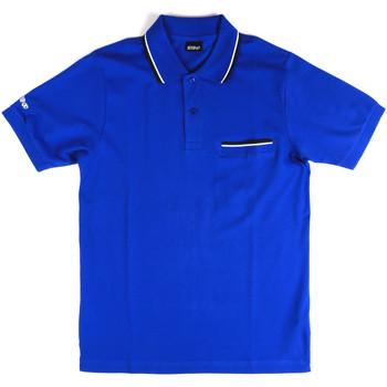 Ruhák Férfi Rövid ujjú galléros pólók Key Up 2Q827 0001 Kék