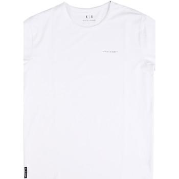 Ruhák Férfi Rövid ujjú pólók Key Up 2G69S 0001 Fehér