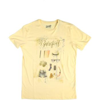 Ruhák Férfi Rövid ujjú pólók Key Up 2G84S 0001 Sárga