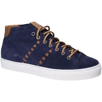 Cipők Férfi Magas szárú edzőcipők Exton 476 Kék