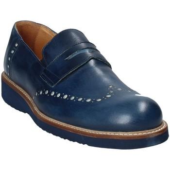 Cipők Férfi Mokkaszínek Exton 885 Kék