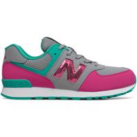 Cipők Lány Rövid szárú edzőcipők New Balance NBGC574KWT Szürke