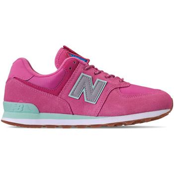 Cipők Lány Rövid szárú edzőcipők New Balance NBGC574PAF Rózsaszín