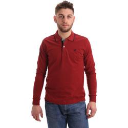 Ruhák Férfi Hosszú ujjú galléros pólók Key Up 2RG71 0001 Piros
