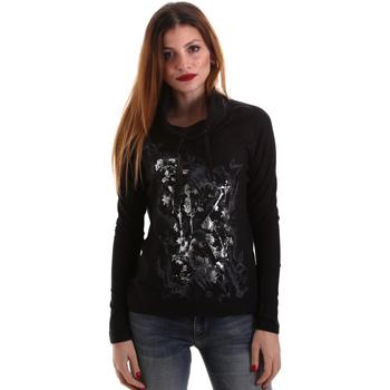 Ruhák Női Hosszú ujjú pólók Key Up 5VG84 0001 Fekete