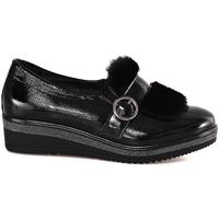 Cipők Női Mokkaszínek Grunland SC3148 Fekete