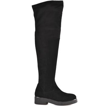 Cipők Női Combcsizmák Mally 6311 Fekete
