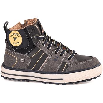 Cipők Gyerek Magas szárú edzőcipők Wrangler WJ18213 Fekete
