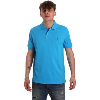 Ruhák Férfi Rövid ujjú galléros pólók U.S Polo Assn. 55957 41029 Kék
