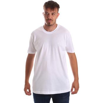 Ruhák Férfi Rövid ujjú pólók Key Up 2M915 0001 Fehér