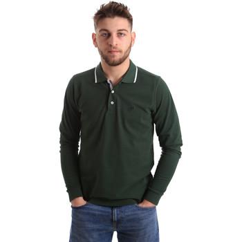 Ruhák Férfi Hosszú ujjú galléros pólók Key Up 2L711 0001 Zöld