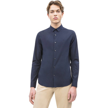 Ruhák Férfi Hosszú ujjú ingek Calvin Klein Jeans J30J312439 Kék